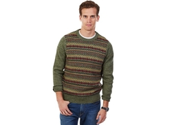 Nautica  - Cargo Green Fair Isle Sweater