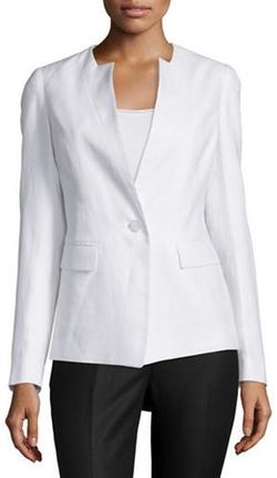 Lafayette 148 New York - Lynn Blazer Jacket W/Inverted Lapels
