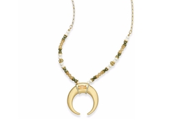 INC International Concepts - Gold-Tone Beaded Horn Pendant Necklace, Only at Macy