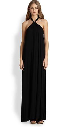 Ella Moss  - Tali Stretch Jersey Halter Maxi Dress