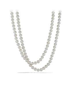 David Yurman - Pearl Necklace With Diamonds