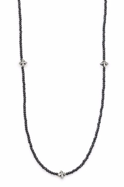 King Baby Studio  - Grey Hematite & Cross Necklace