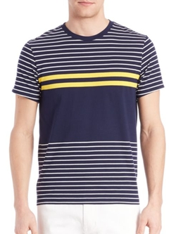 Kent And Curwen  - Multi-Striped T-Shirt