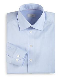 Eton of Sweden  - Contemporary-Fit Solid Twill Dress Shirt