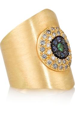 Ileana Makri - Eye Shield Gold Multi-Stone Ring