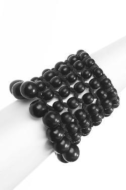 Josie Natori  - Beaded Cuff Style Bracelet