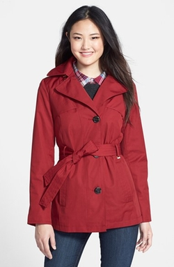 Ellen Tracy  - Belted Mini Trench Coat