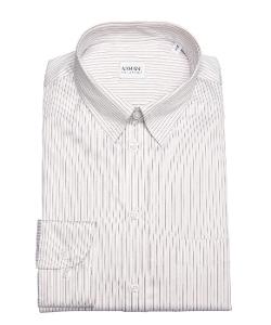 Armani Collezioni  - Striped Cotton Point Collar Dress Shirt