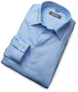 Kenneth Cole Reaction  - Spread Collar Tonal Solid Woven Shirt