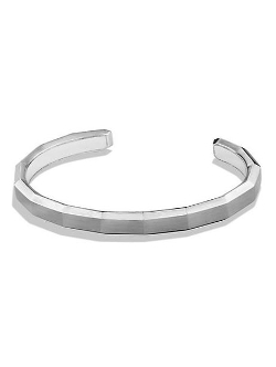 David Yurman  - Faceted Metal Cuff Bracelet