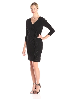Kasper - Hillary Faux-Wrap Dress