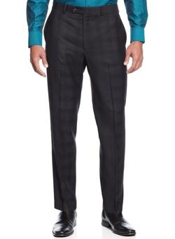 Calvin Klein - Slim Fit Plaid Dress Pants