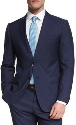 Armani Collezioni - M-Line Solid Two-Piece Wool Suit