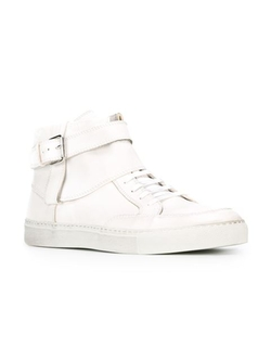 Diesel Black Gold - Buckled Hi-Top Sneakers