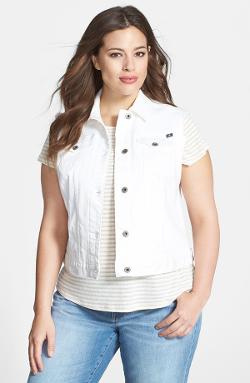 Lucky Brand  - Dixie White Denim Vest