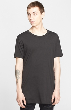 BLK DNM  - Zip Detail Crewneck T-Shirt