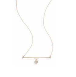 Saks Fifth Avenue - Gold Heart Bar Pendant Necklace