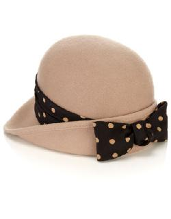 Accesorize - Felt Back Bow Cloche Hat