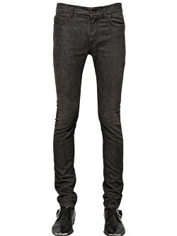Saint Laurent  - Skinny Stretch Cotton Denim Jeans
