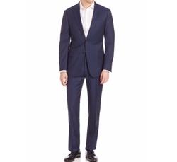 Armani Collezioni  - G-Line Tonal Stripe Wool Suit