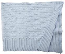 Elegant Baby - Blue Cable Knit Blanket-One Size