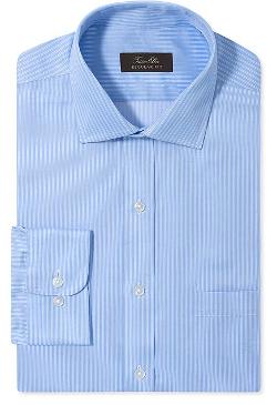 Tasso Elba Dress Shirt  - No Iron Stripe Long-Sleeved Shirt