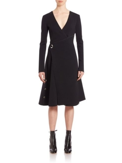 Proenza Schouler  - Plunging V-Neck A-Line Dress