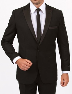 King Formal Wear - Black Peak Lapel Men