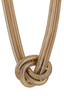 Kenneth Jay Lane  - Knotted Snake-Chain Necklace