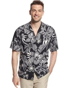 Tommy Bahama  - Floragraphic Camp Silk Shirt