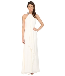 Calvin Klein -  Halter Neck Draped Gown