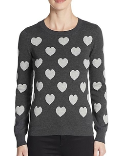 Saks Fifth Avenue - Heart Intarsia Sweater