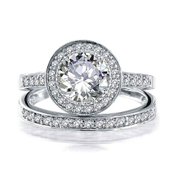 Bling Jewelry - Engagement And Wedding Ring Set