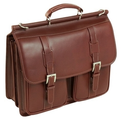 McKlein  - Siamod Signorini Oil Pull-Up Leather Laptop Bag
