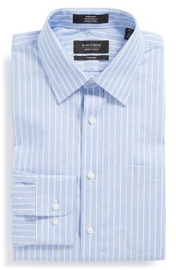 Nordstrom  - Non-Iron Trim Fit Stripe Dress Shirt