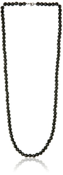 1928 Jewelry - Sparkly Black Beaded Necklace
