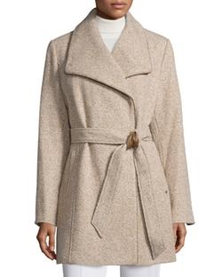 Ellen Tracy  - Novelty Wool Wrap Coat