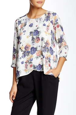 Lush - Front Fly Away Blouse