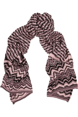 Missoni  - Crochet Knit Wool Blend Scarf
