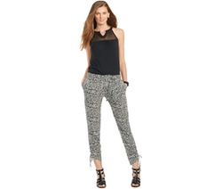 Lauren Ralph Lauren  - Petite Printed Slim-Fit Pants