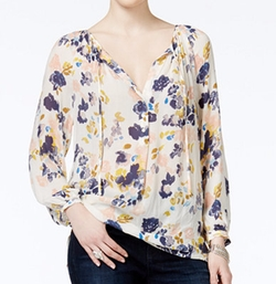 Lucky Brand - Printed Peasant Blouse