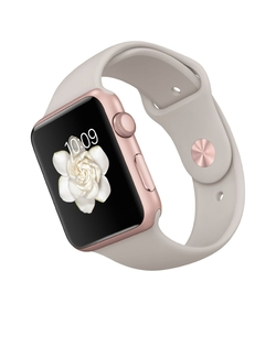 Apple - Rose Gold Aluminum Case with Lavender Sport Band Watch
