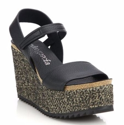 Pedro Garcia  - Dorothy Leather & Textile Wedge Sandals