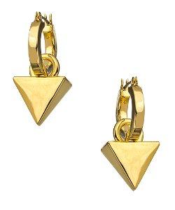 Roman Luxe  - Triangular Drop Hoop Earrings