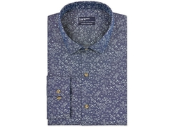 Bar III Carnaby Collection  - Slim-Fit Harbor Floral Print Dress Shirt