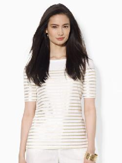 Lauren  - Striped Cotton Top