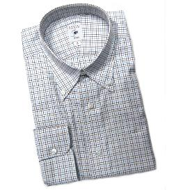 Robert Talbott - Brown, Navy, and Sky Check Estate Dress Shirt