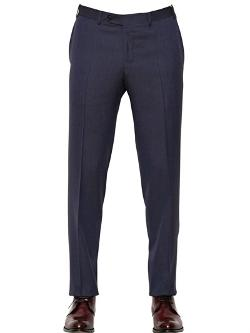 Canali  - Iridescent Wool Flannel Trousers
