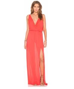 Bobi - Rayon Gauze V Neck Sleeveless Maxi Dress