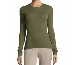 Michael Kors Collection  - Long-Sleeve Cashmere Top